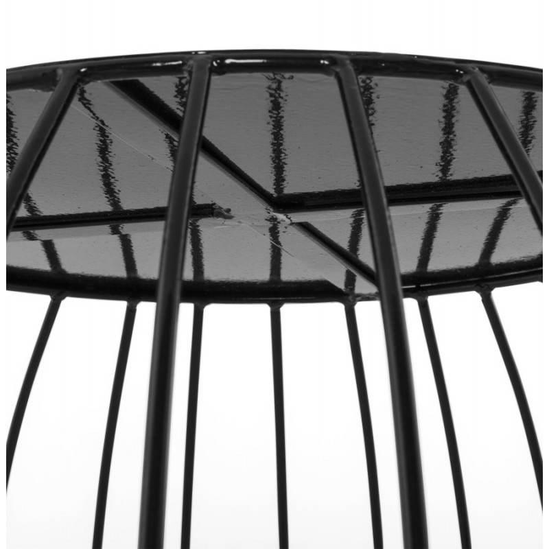 table basse design anita en m tal peint noir fran ais. Black Bedroom Furniture Sets. Home Design Ideas