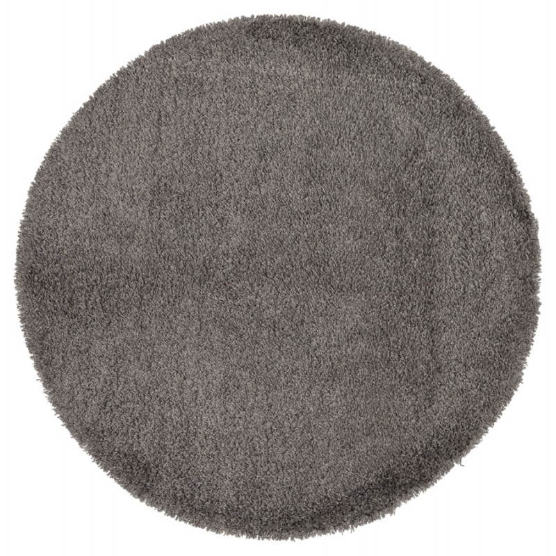 Tapis contemporain et design mike rond petit mod le gris fran ais french for Petit tapis rond