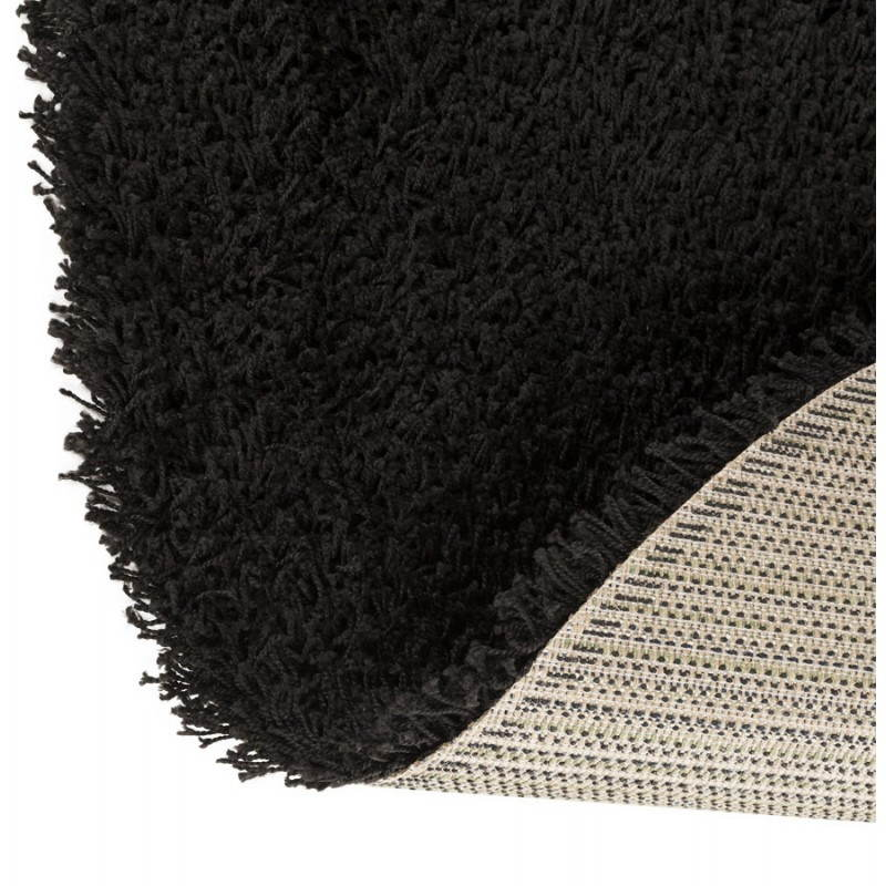 tapis contemporain et design mike rond grand mod le 200 cm noir. Black Bedroom Furniture Sets. Home Design Ideas