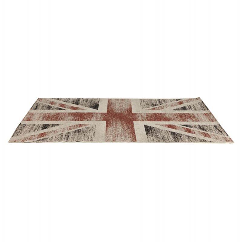 tapis contemporain et design drapeau uk rectangulaire grand mod le noir rouge blanc. Black Bedroom Furniture Sets. Home Design Ideas