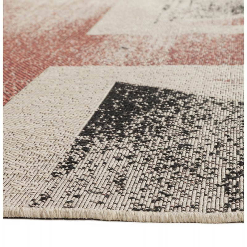 Tapis contemporain et design drapeau uk rectangulaire grand mod le noir rou - Tapis contemporain belgique ...