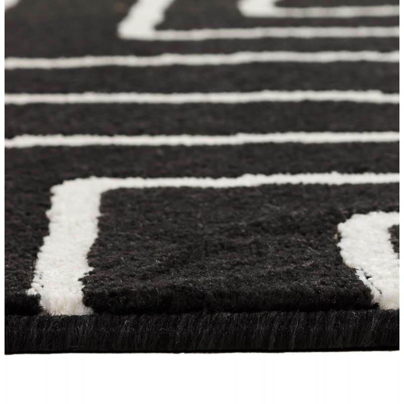tapis contemporain et design rafy rectangulaire 160 x 230 noir blanc. Black Bedroom Furniture Sets. Home Design Ideas