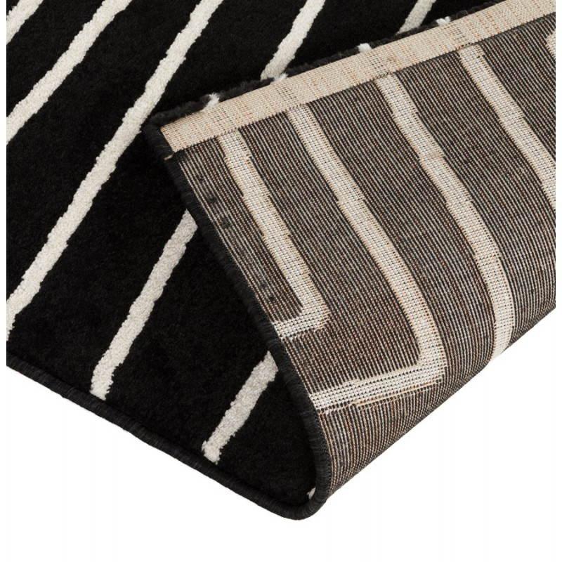 Tapis contemporain et design rafy rectangulaire noir for Tapis contemporain design