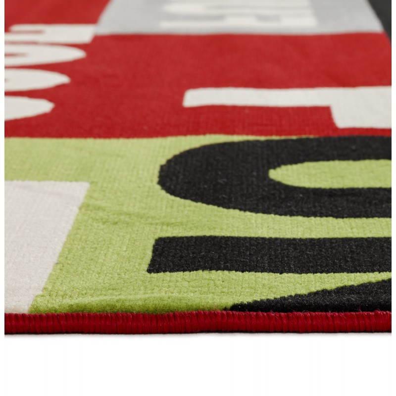tapis contemporain et design loukan rectangulaire multicolore fran ais french. Black Bedroom Furniture Sets. Home Design Ideas