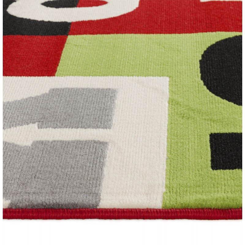 Tapis contemporain et design loukan rectangulaire multicolore fran ais fr - Tapis contemporain belgique ...