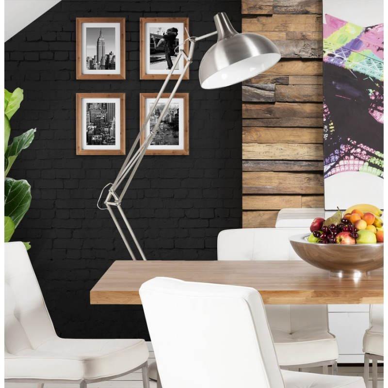 lampe sur pied design cotinga en m tal bross aluminium fran ais french. Black Bedroom Furniture Sets. Home Design Ideas