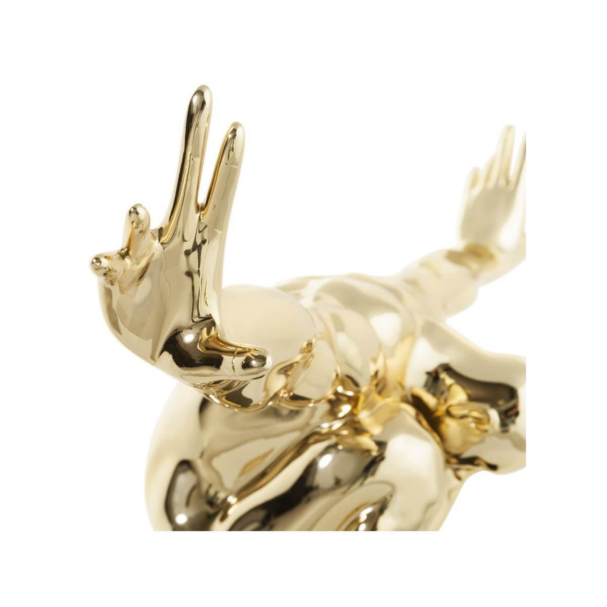 statue form swimmer banco fiberglass gold