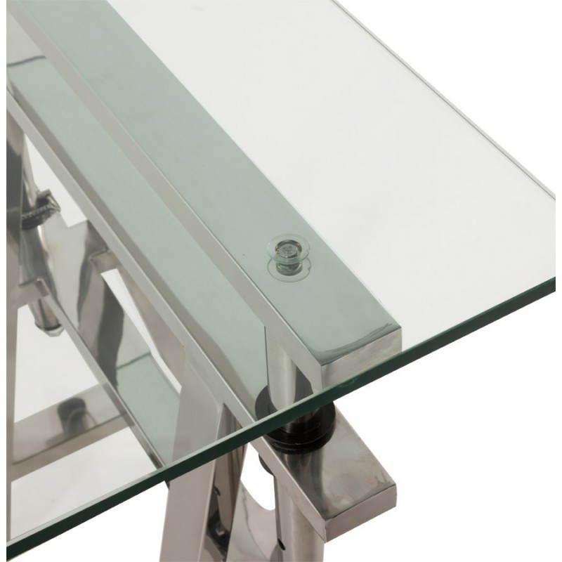 Bureau design sur pieds r glables maldives en verre tremp for Pied de bureau design