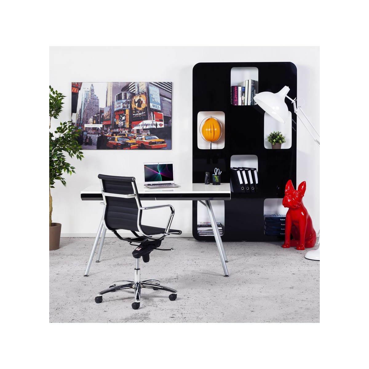 Bureau angle blanc inox sammlung von design for Bureau in english