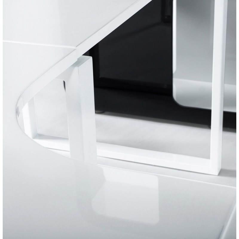 Bureau Design Bois Laque : Caract?ristiques du produit : Bureau d'angle design FIDJI en bois