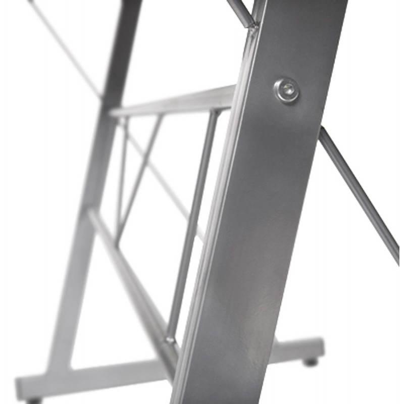 Bureau d 39 angle design chili en acier et verre s curit - Prix du verre securit ...