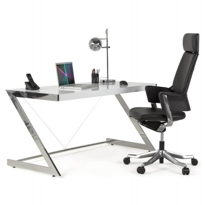 fauteuil de bureau design ergonomique cuba en cuir noir. Black Bedroom Furniture Sets. Home Design Ideas