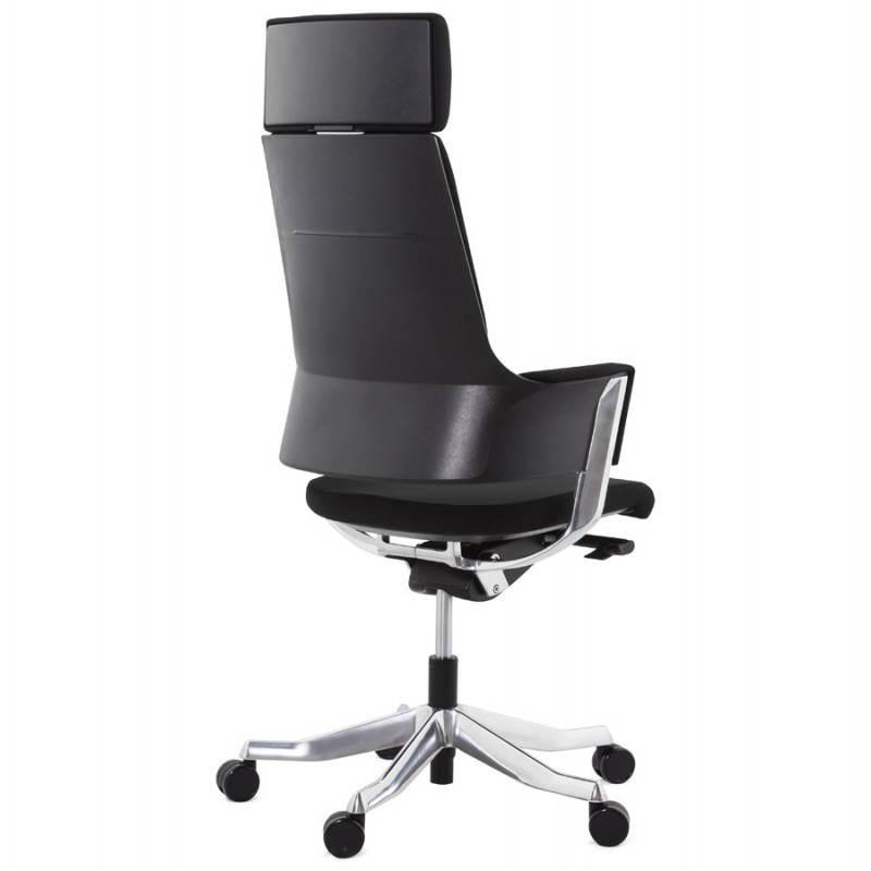fauteuil de bureau design ergonomique barbades en tissu noir fran ais french. Black Bedroom Furniture Sets. Home Design Ideas