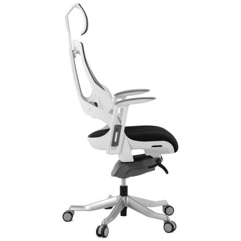 Fauteuil de bureau design ergonomique BAHAMAS en tissu (noir ...