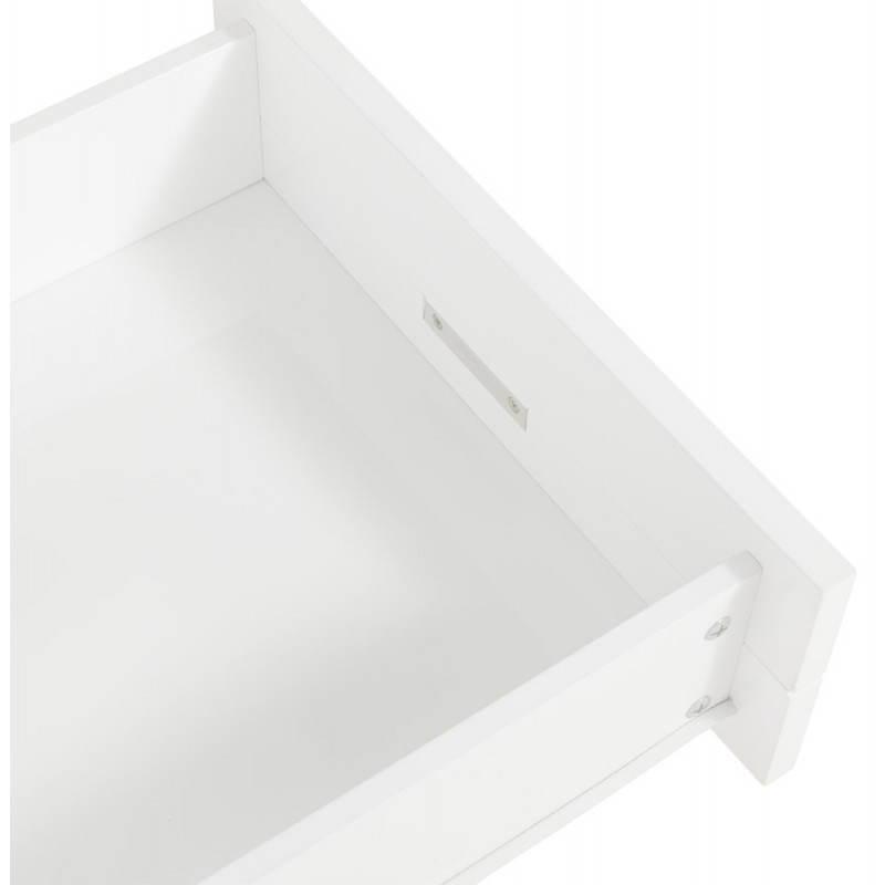 Meuble tv porquerolles en bois laqu blanc fran ais for Acheter maison porquerolles