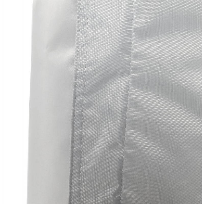 puff rectangular millot grey textile. Black Bedroom Furniture Sets. Home Design Ideas