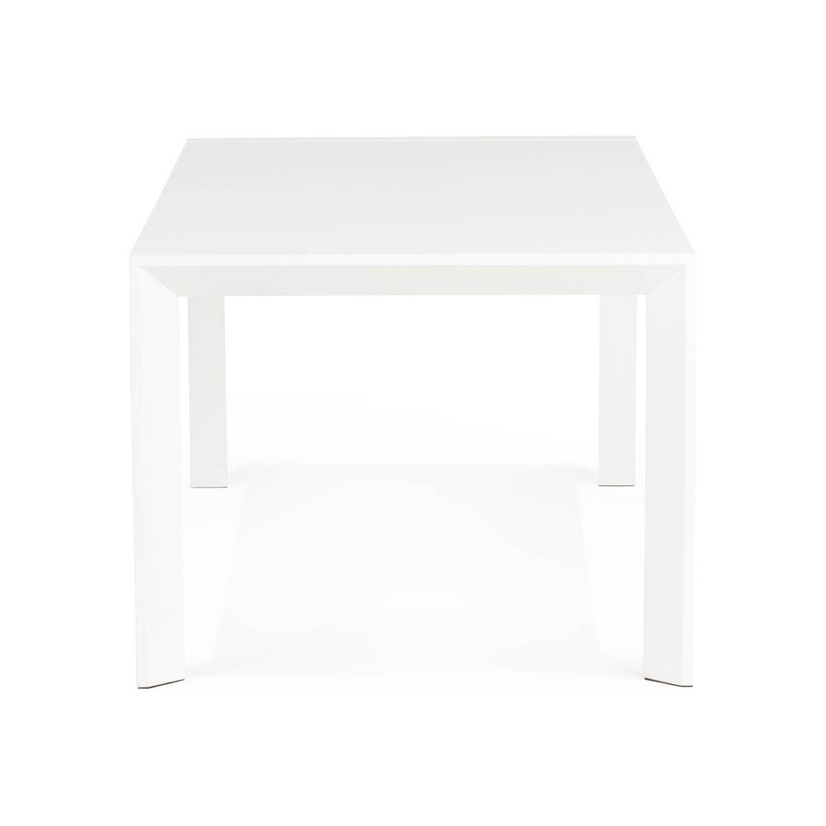 Table design avec 2 rallonges macy en bois peint blanc for Table bois metal rallonge