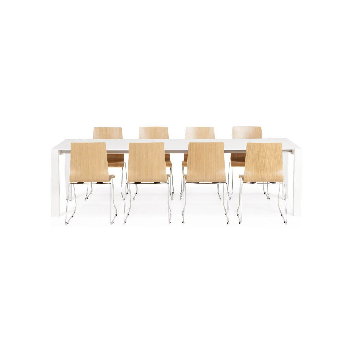 Table design avec 2 rallonges macy en bois peint blanc english english - Table ronde bois blanc ...
