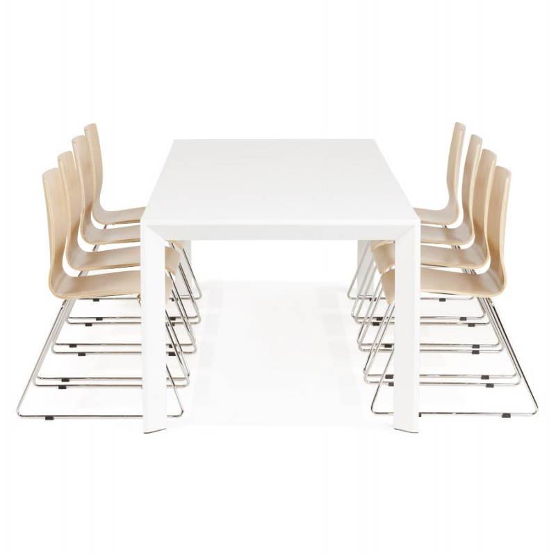 Table manger design avec rallonge jazz pas cher pictures for Table bois rallonges integrees