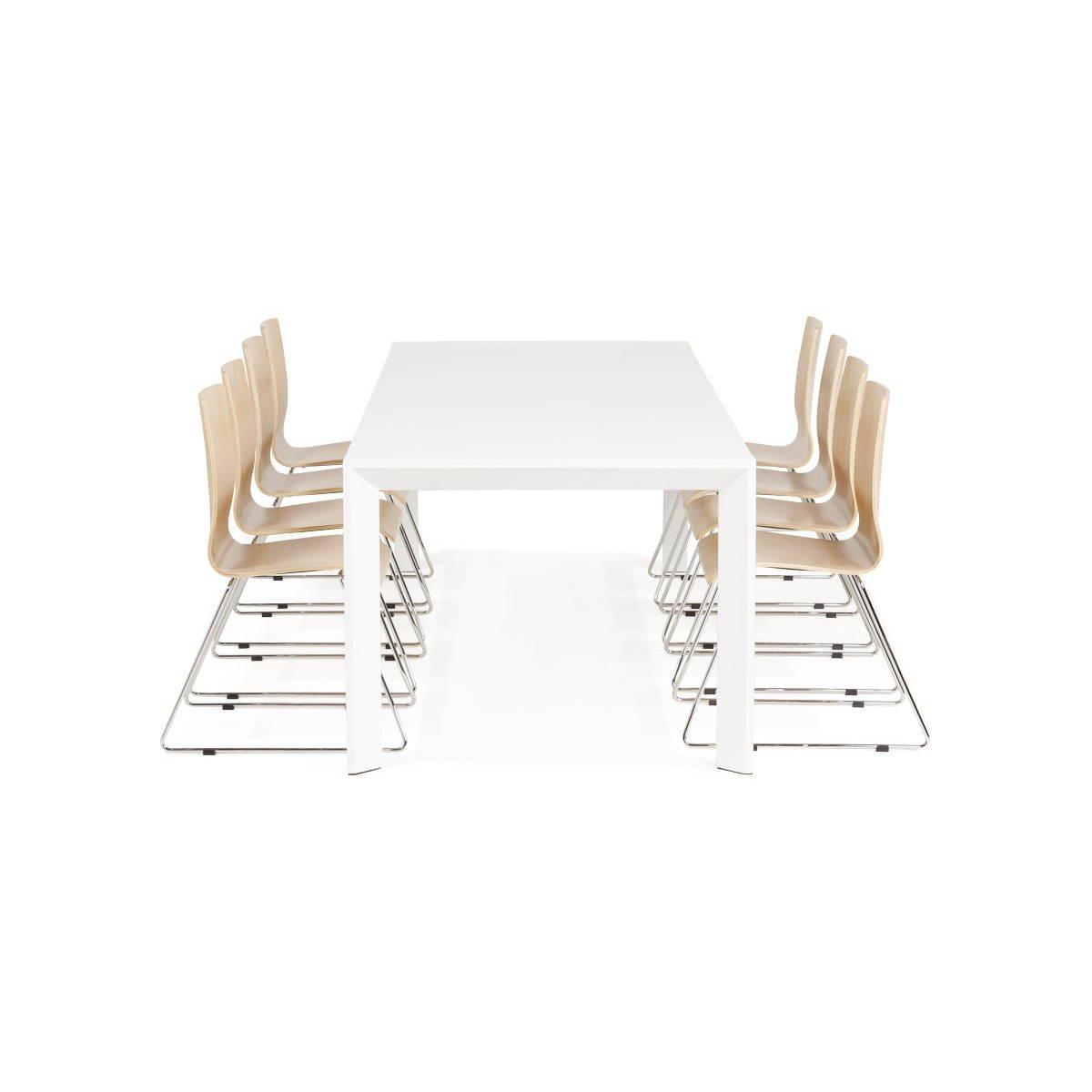 #8B6440 Table Design Avec 2 Rallonges MACY En Bois Peint (blanc  4095 table salle a manger moderne avec rallonges 1200x1200 px @ aertt.com