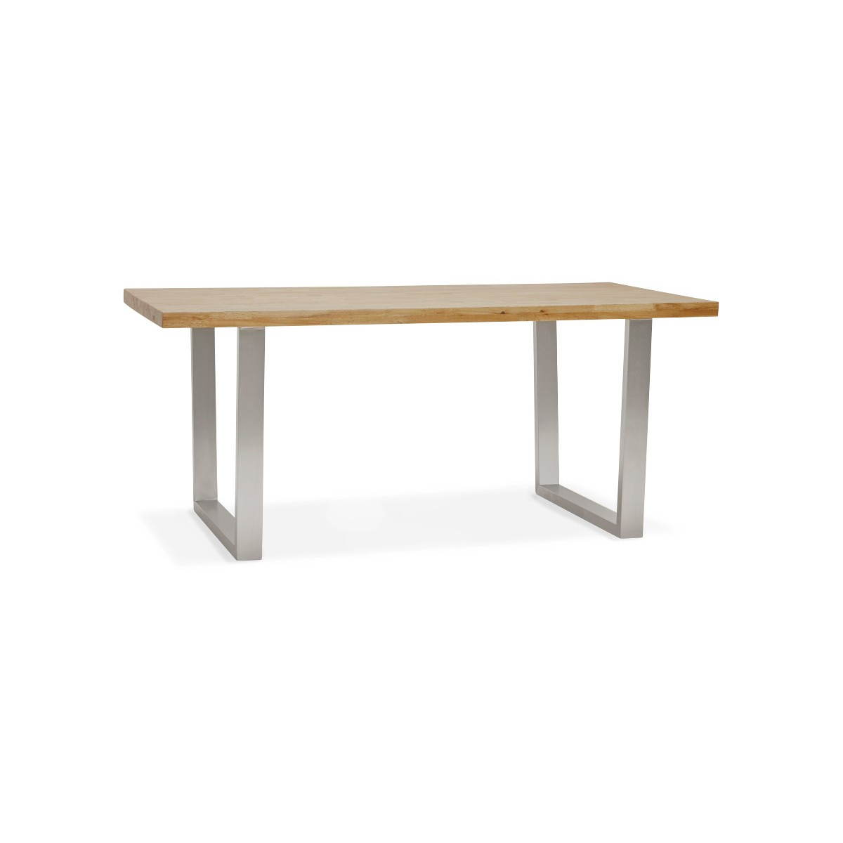 Table moderne rectangulaire panou en ch ne massif bois naturel fran ais french - Table moderne bois ...