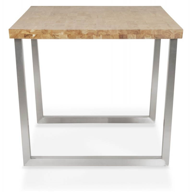 Table moderne rectangulaire panou en ch ne massif bois naturel english en - Table basse chene naturel ...