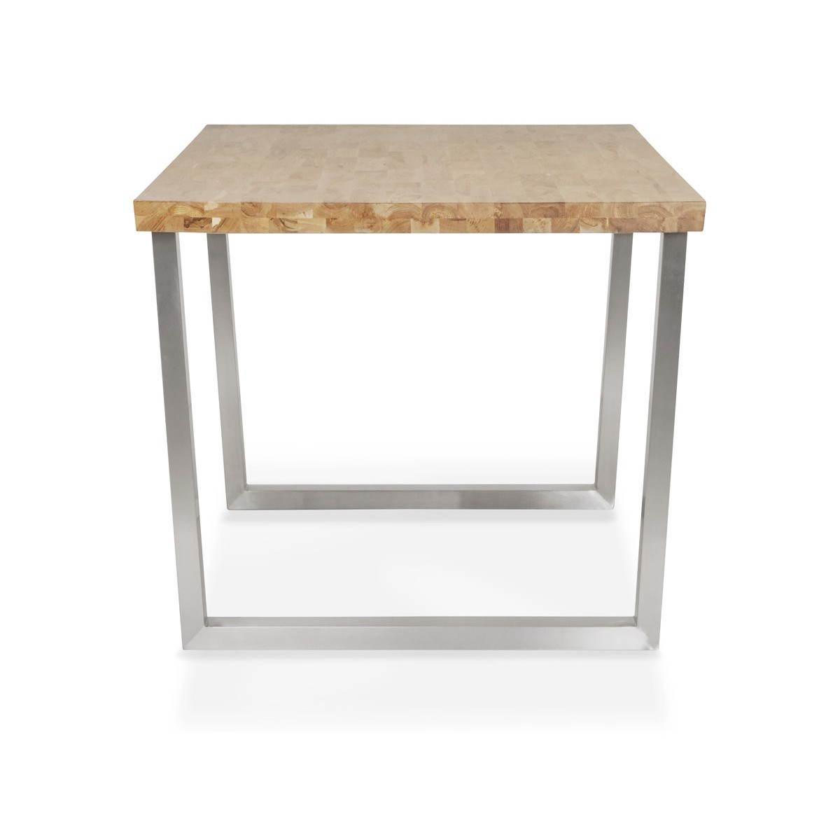 table moderne rectangulaire panou en ch ne massif bois naturel fran ais french. Black Bedroom Furniture Sets. Home Design Ideas