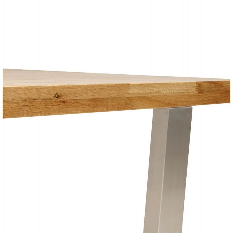 Table moderne rectangulaire panou en ch ne massif bois - Table bois naturel ...
