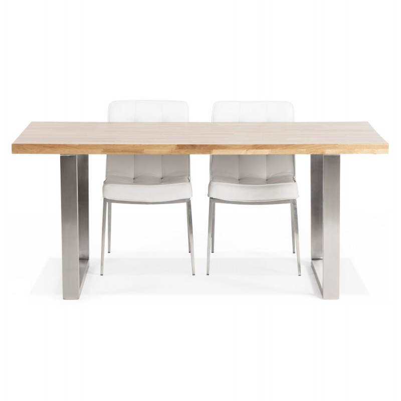 Table bois massif contemporaine - Table moderne bois ...