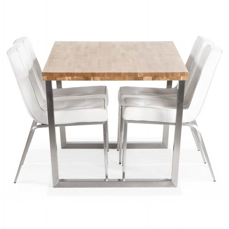 Table bois massif moderne - Table rectangulaire chene massif ...