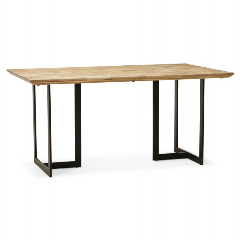 Table moderne rectangulaire nanou en ch ne bois naturel - Table moderne en bois ...