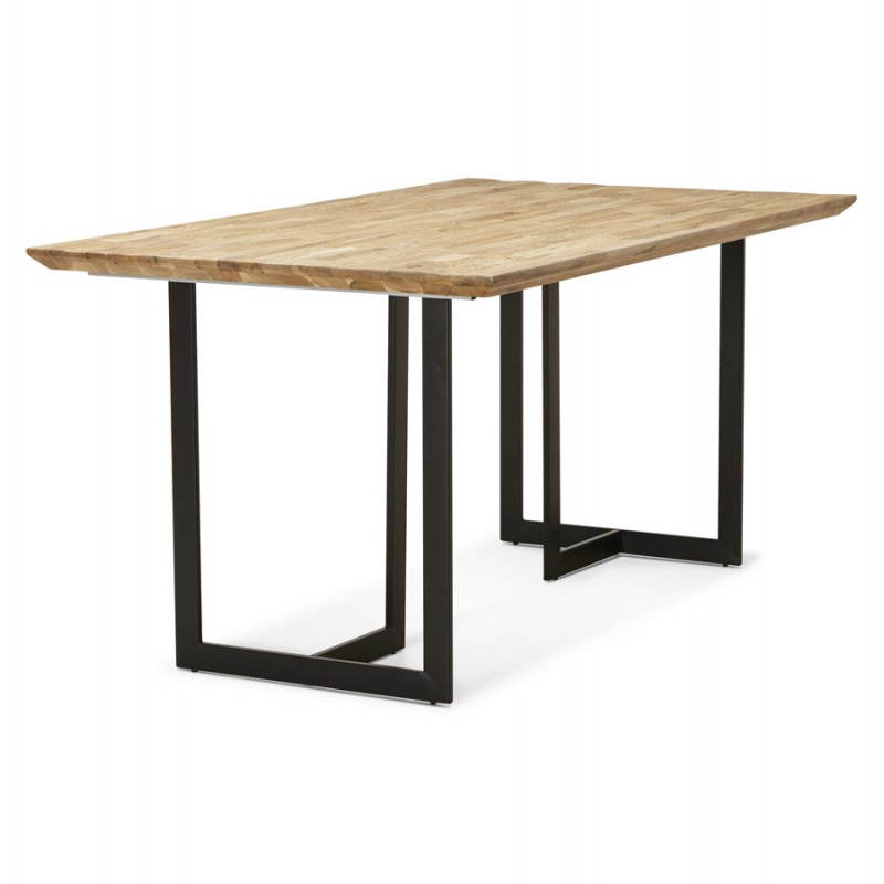 Table moderne rectangulaire nanou en ch ne bois naturel - Table en bois moderne ...