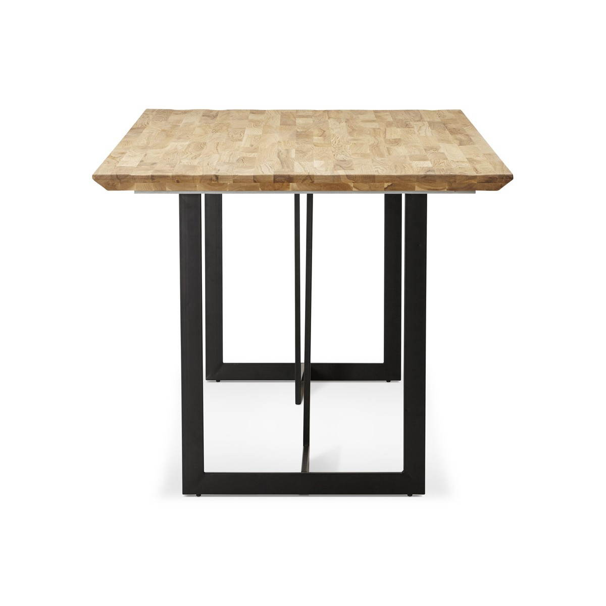 Table moderne rectangulaire nanou en ch ne bois naturel - Table chene moderne ...