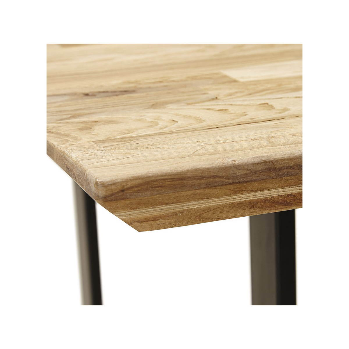 Table moderne rectangulaire nanou en ch ne bois naturel - Table ferme chene ...
