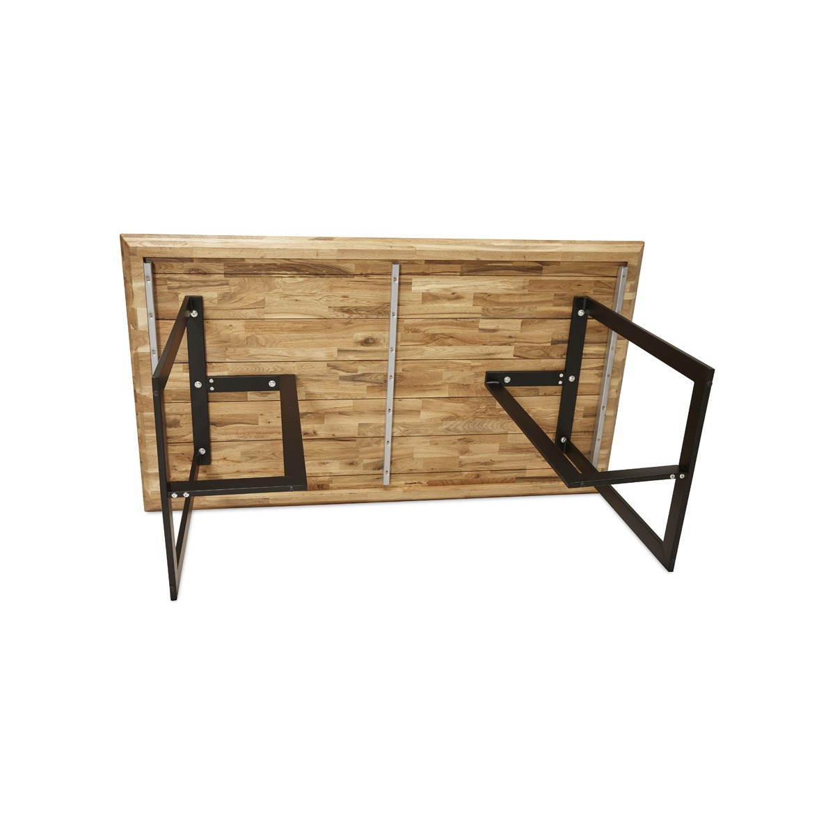 Table moderne rectangulaire nanou en ch ne bois naturel for Table en chene brut