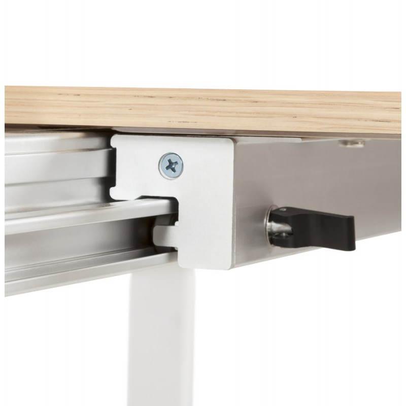 Table design rectangulaire avec rallonges solo en plaqu for Table de salle a manger en chene avec rallonge