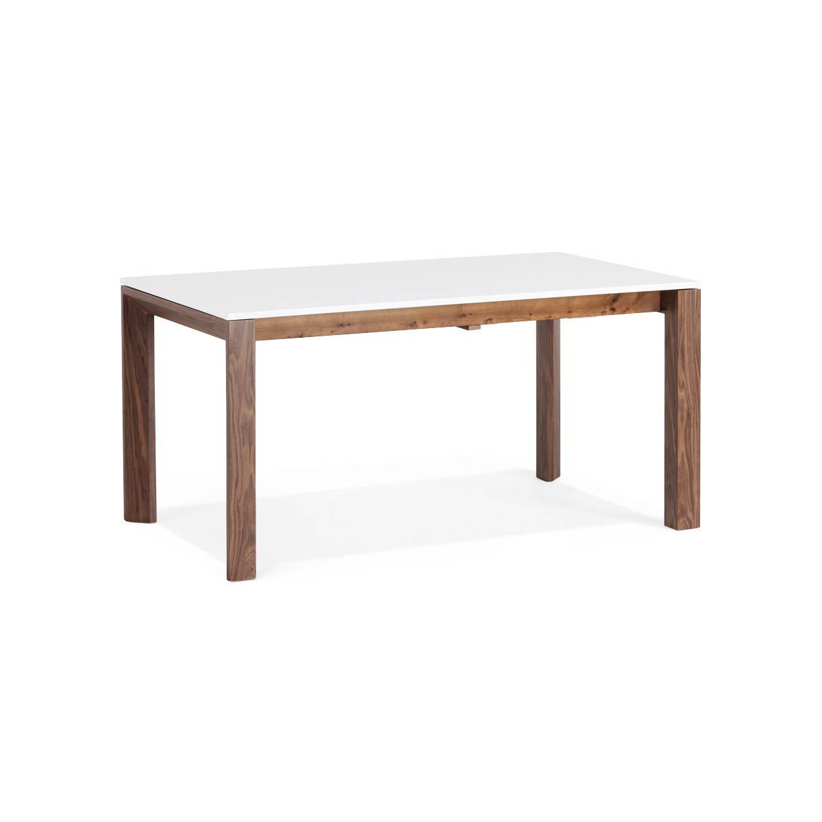 Table design rectangulaire avec rallonge loulou en bois blanc english eng - Table carree avec rallonge ...