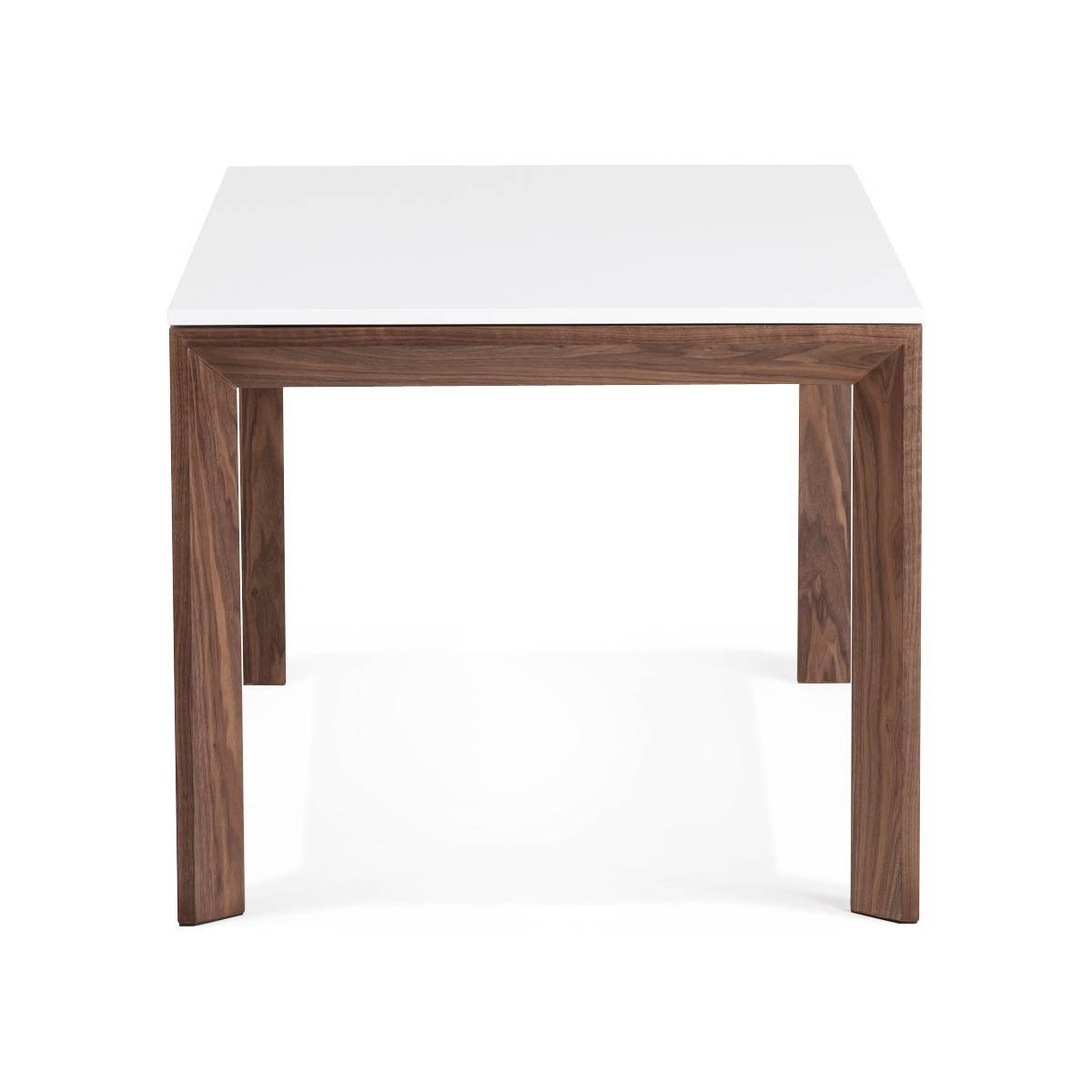 Table design rectangulaire avec rallonge loulou en bois - Table massif rallonge ...