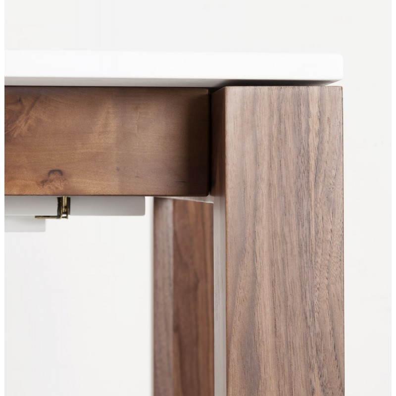 Table design rectangulaire avec rallonge LOULOU en bois (blanc)