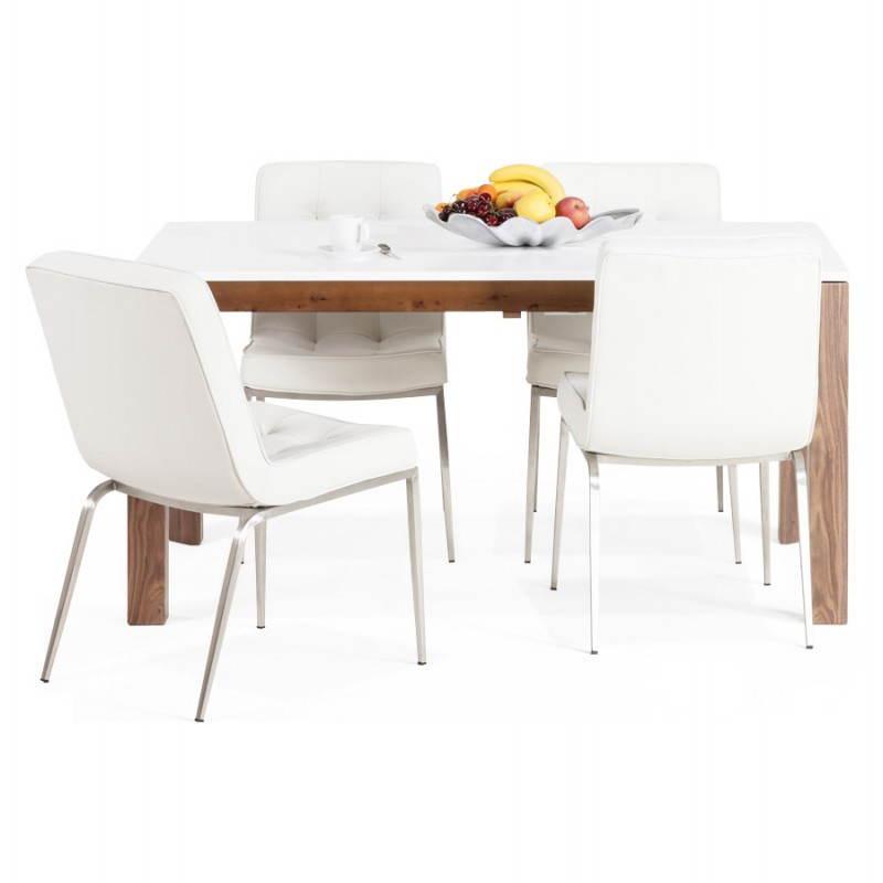 table allonge bois blanc. Black Bedroom Furniture Sets. Home Design Ideas
