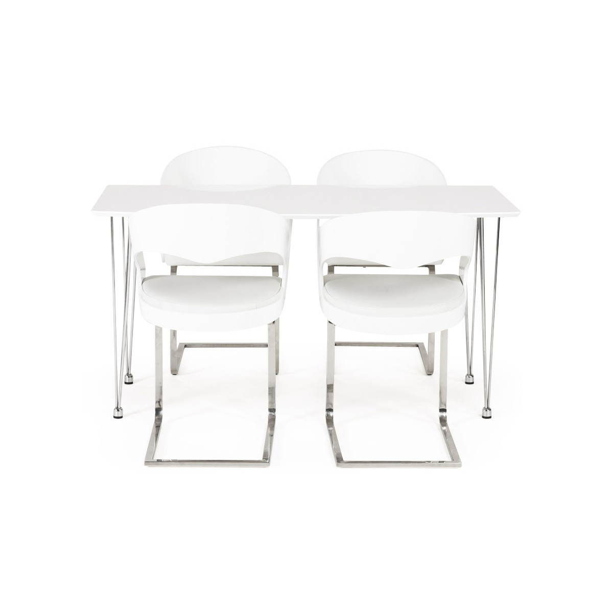 Table design rectangulaire SOPHIE en bois (blanc)