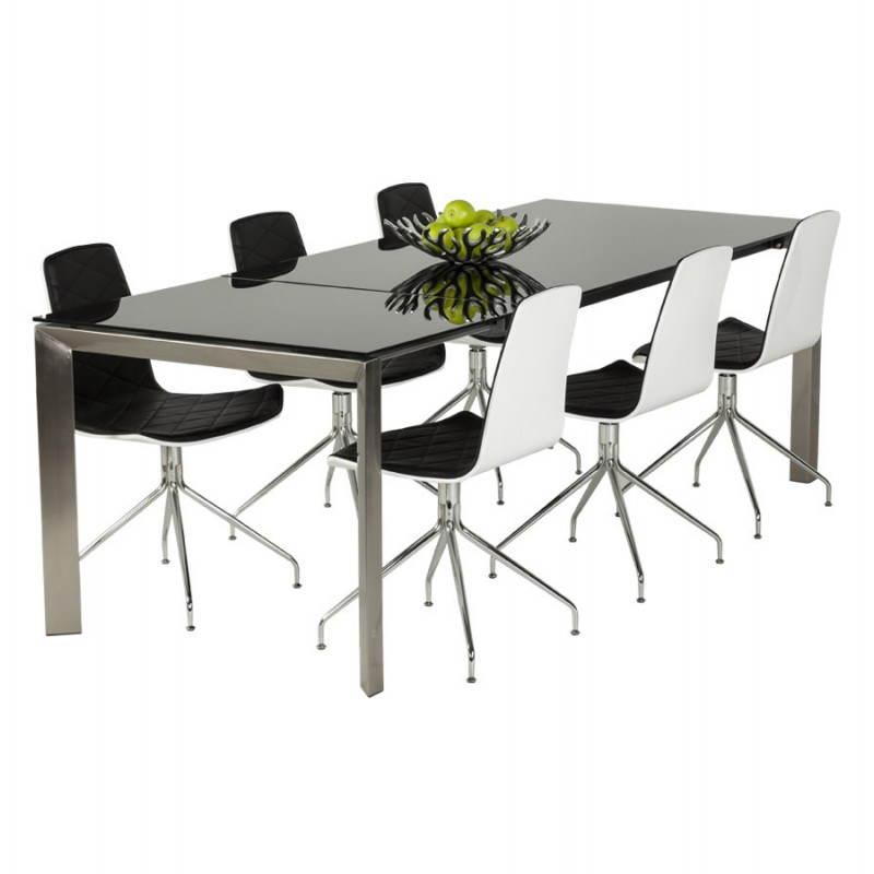 table design rectangulaire avec rallonge mona en verre. Black Bedroom Furniture Sets. Home Design Ideas