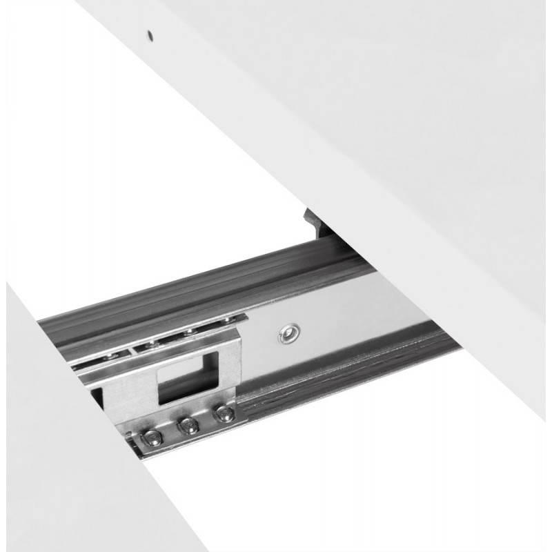 Table design rectangulaire avec rallonges LOANA en bois et  ~ Table En Bois Blanc Avec Rallonge