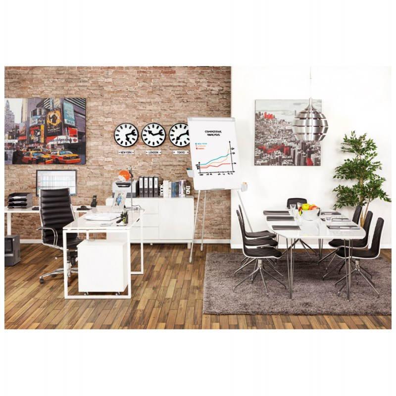 Table design rectangulaire avec rallonges LOANA en bois et