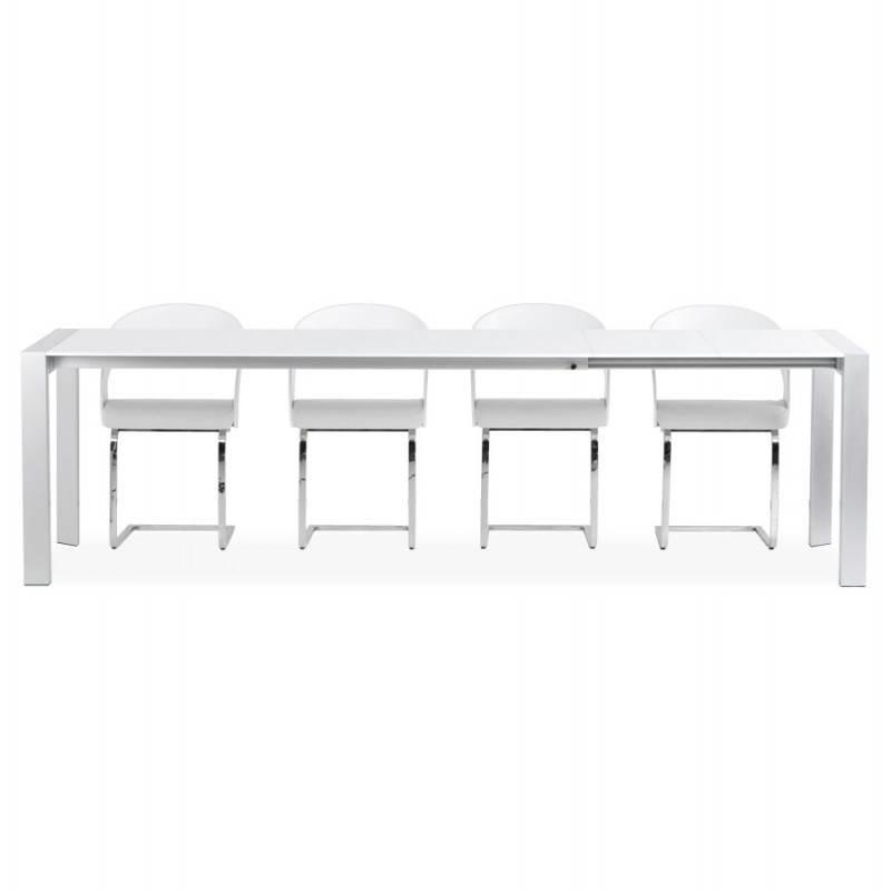 Table design rectangulaire avec rallonge FIONA en bois  ~ Table En Bois Blanc Avec Rallonge