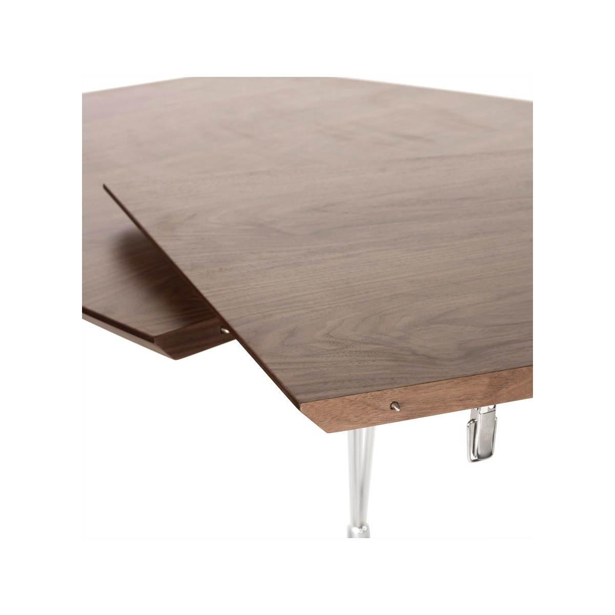Table design rectangulaire avec rallonges rinbo en plaqu - Table salle a manger rectangulaire avec rallonge ...