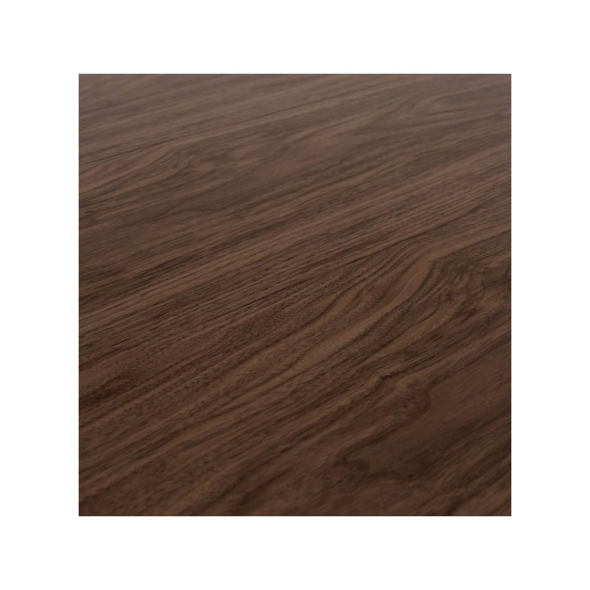 table design rectangulaire avec rallonges rinbo en plaqu noyer et acier chrom noyer english. Black Bedroom Furniture Sets. Home Design Ideas