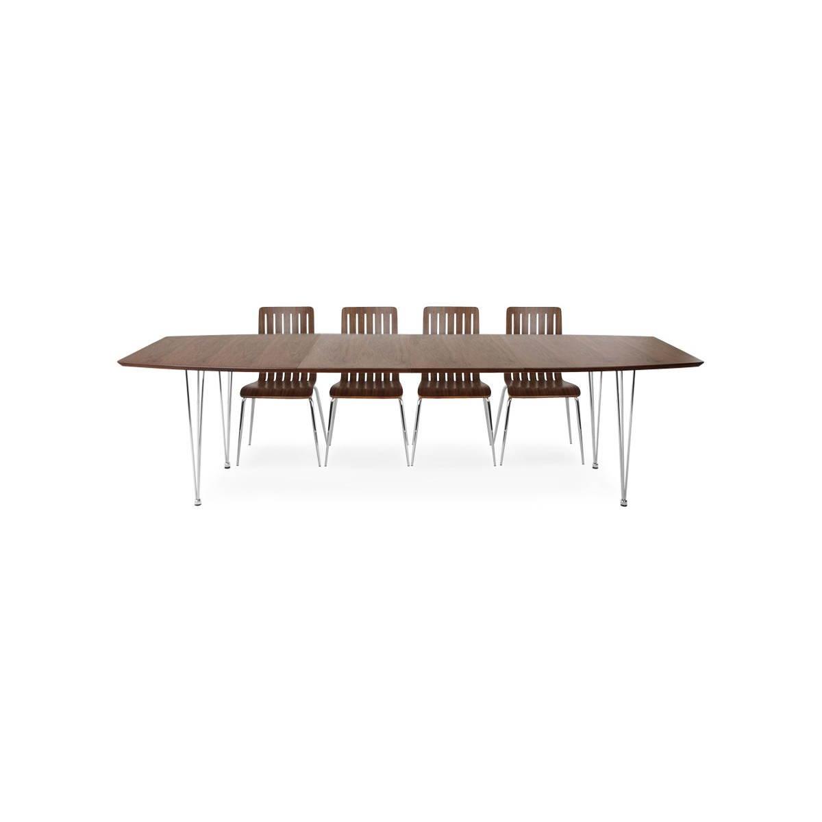 #40261B Table Design Rectangulaire Avec Rallonges RINBO En Plaqué  4095 table salle a manger moderne avec rallonges 1200x1200 px @ aertt.com