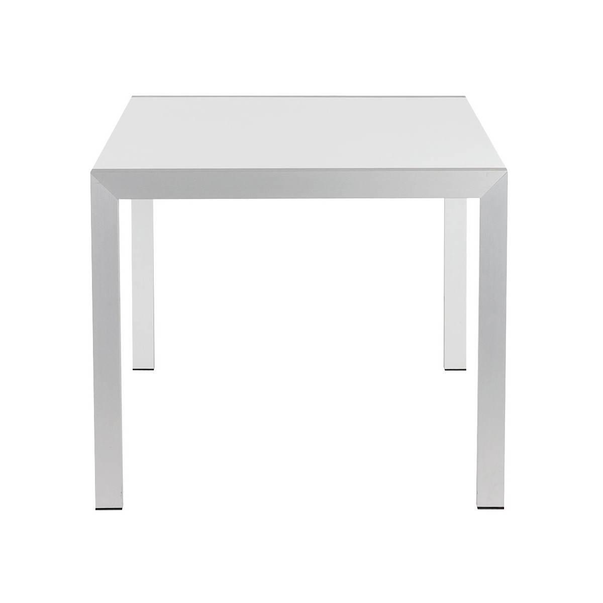 Table jardin bois laque blanc des id es for Table blanc laque rallonge