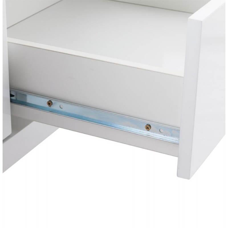 Meuble tv bois blanc laqu - Meuble en laque blanc ...